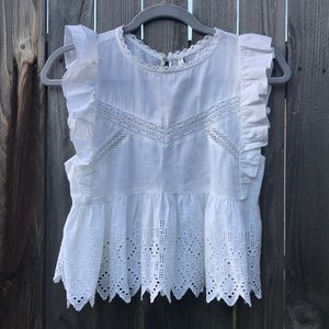 NWT white lace blouse